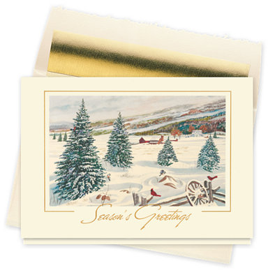Country Greetings Seasons Greeting Card