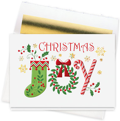 Christmas Joy Holiday Card