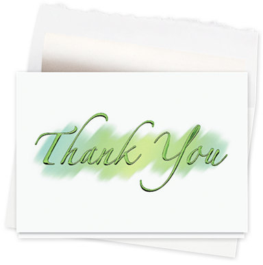 Brushstroke Thank You Greeting Card