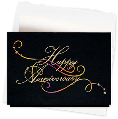 Anniversary Flourish Card